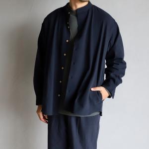 SALE 40%OFF エディットクロージング アウター EDIT CLOTHING ビックシルエットロングシャツJK Big silhouette long shirts JK ネイビー NAVY 2020秋冬新作|charger