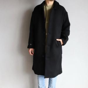 エディットクロージング アウター EDIT CLOTHING ウールコート Wool Coat ブラック Black 2020秋冬新作|charger