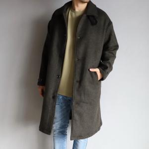 エディットクロージング アウター EDIT CLOTHING ウールコート Wool Coat ミックスブラウン Mix Brown 2020秋冬新作|charger