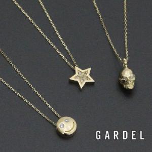 GARDEL ガーデル 公式通販, TINY DIAMOND NECKLACE K18イエローゴールド,ダイヤモンド スカル,スター,スマイル 公式通販|charger
