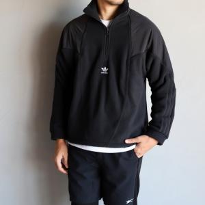 アディダスオリジナルス ジャケット adidas Originals ビッグトレフォイルフリースジャケット BG TRF MIX HFZP JACKET ブラック BLACK 2020秋冬新作|charger