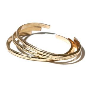 INDIAN Jewelry インディアンジュエリー   GOLD BANGLE ゴールドバングル  0.4cm ナローミディアムバングル ナバホ 12Kゴールドフィルド メンズ レディース|charger