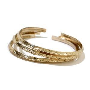 INDIAN Jewelry インディアンジュエリー GOLD BANGLE トライアングルゴールドバングル  0.4cm ナローミディアム ナバホ 12Kゴールドフィルド メンズ レディース|charger