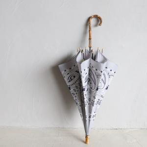 マニプリ 傘 manipuri A-2 傘 バンダナ柄 グレー STICK-Umbrella bandana grey 晴雨兼用 雨傘 日傘 2019春夏新作|charger