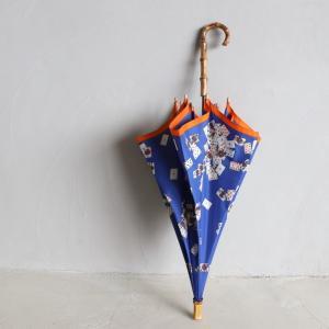 マニプリ 傘 manipuri トランプ柄 ブルー STICK-Umbrella trump blue 晴雨兼用 雨傘 日傘 2019春夏新作|charger