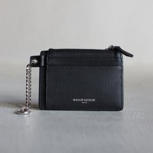 メゾンキツネ 小物 MAISON KITSUNE ジップカードホルダー ZIPPED CARD HOLDER ブラック BLACK  2020秋冬新作|charger