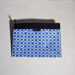 SALE 30%OFF メゾンキツネ クラッチバッグ MAISON KITSUNE ALL OVER RECTANGLE LARGE POUCH BLUE PRINT レクタングル ポーチ  2018秋冬新作|charger