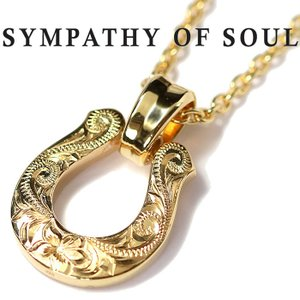 ロノ × シンパシーオブソウル ネックレス LONO × SYMPATHY OF SOUL コラボ エクストララージ ホースシュー K18YG XL Horseshoe Necklace K18YG Chain 2.1mm|charger