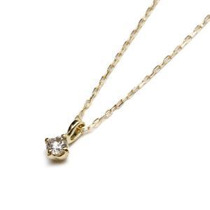 Maxi マキシ ハワイアンジュエリー シンプル ダイヤモンド ネックレス K10イエローゴールド ダイヤモンド レディース|charger