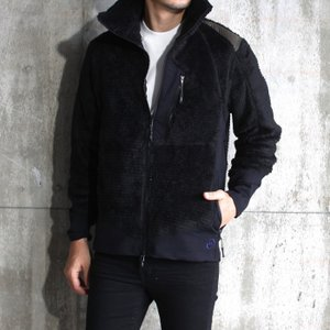 MofM フリースジャケット ブラック カーキ man of moods MIDDLE LAYERED FLEECE URJK TYPE2 BLACK KHAKI 208秋冬新作|charger
