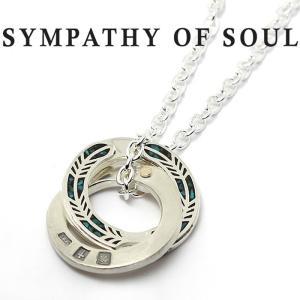 シンパシーオブソウル ネックレス SYMPATHY OF SOUL Feather Inlay Necklace Silver Turquoise フェザーインレイネックレス シルバー ターコイズ|charger