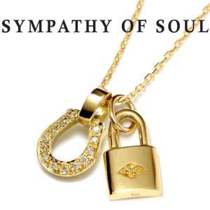 シンパシーオブソウル ネックレス  ホースシュー K18 ゴールド ダイヤ SYMPATHY OF SOUL Small Necklace Horseshoe K18YG Diamond × Small Key K18YG|charger