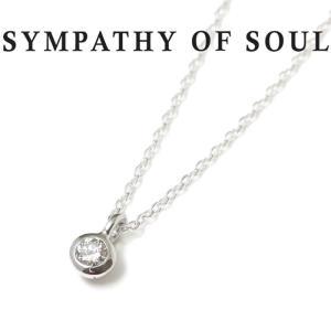 シンパシーオブソウル レディース ネックレス ゴールド SYMPATHY OF SOUL Gem Necklace K18WG  Diamond ジェム ネックレス K18 ホワイト ゴールド ダイヤモンド|charger