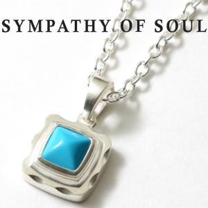 シンパシーオブソウル ネックレス SYMPATHY OF SOUL Pyramid Necklace Silver Turquoise ピラミッド ネックレス シルバー ターコイズ|charger