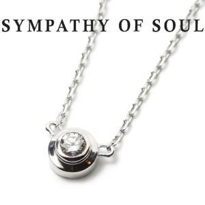 シンパシーオブソウル ネックレス SYMPATHY OF SOUL One Diamond Necklace K18 White Gold ワン ダイヤモンド ネックレス K18 ホワイトゴールド charger