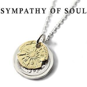 シンパシーオブソウル ネックレス SYMPATHY OF SOUL B.C Coin Neckalace Hope Sun Bless Silver K18Yellow Gold B.C コイン ホープサン シルバー K18YG|charger