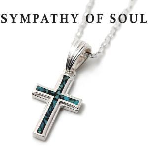 シンパシーオブソウル ネックレス SYMPATHY OF SOUL Small Gravity Cross Inlay Necklace Silver スモールグラビティ クロス インレイ ネックレス シルバー|charger