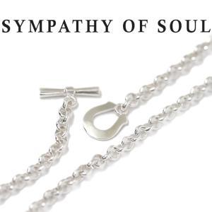 シンパシーオブソウル ネックレス SYMPATHY OF SOUL クラシックチェーンネックレス ラウンド シルバー Classic Chain Necklace Round SILVER|charger