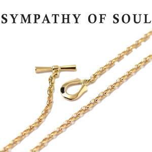 シンパシーオブソウル ネックレス SYMPATHY OF SOUL ナロークラシックチェーンネックレス-オーバル Narrow Classic Chain Necklace - Oval K18YG|charger