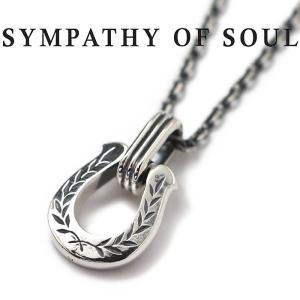 シンパシーオブソウル ネックレス SYMPATHY OF SOUL ホースシューアミュレットネックレス ローレル シルバー Horseshoe Amulet Necklace Laurel SILVER|charger