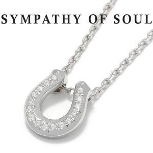 シンパシーオブソウル ネックレス SYMPATHY OF SOUL リッジホースシューネックレス Silver w/CZ Ridge Horseshoe Necklace Silver w/CZ 2020クリスマスモデル|charger