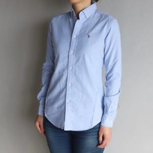 SALE 50%OFF ポロ ラルフローレン レディース シャツ POLO RALPH LAUREN スリムフィットシャツ SLIM FIT SHIRTS ブルー BLUE 2020春夏新作|charger