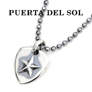 PUERTA DEL SOL,プエルタデルソル  ピック ワンスターネックレス シルバー×シルバー ne859 メンズ レディース ユニセックス 通販|charger