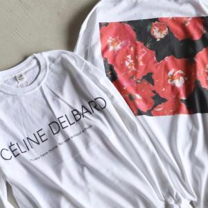Niche. Tシャツ ニッチ ローズL/STシャツ[CELINE DELBARD]  ROSE L/S Tee [CELINE DELBARD] ホワイト WHITE 2020秋冬新作|charger