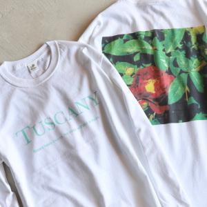 Niche. Tシャツ ニッチ ローズL/STシャツ[TUSCANY]  ROSE L/S Tee [TUSCANY] ホワイト WHITE 2020秋冬新作|charger