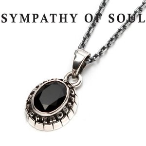 SYMPATHY OF SOUL シンパシーオブソウル Small College Pendant Onyx Silver × Chain 1.6mm スモール カレッジ ネックレス オニキス シルバー|charger