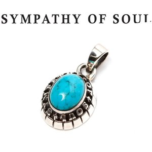 SYMPATHY OF SOUL シンパシーオブソウル Small College Pendant Turquoise Silver スモール カレッジ ペンダント ターコイズ シルバー|charger