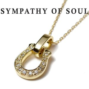 シンパシーオブソウル ネックレス ホースシュー メンズ K18ゴールド ダイヤモンド SYMPATHY OF SOUL Horseshoe Amulet K18Yellow Gold Diamond×0.8mm Chain|charger