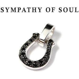 シンパシーオブソウル ペンダント SYMPATHY OF SOUL ホースシューアミュレット ブラック ジルコニア Horseshoe Amulet w/Black CZ|charger