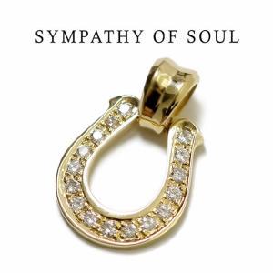 SYMPATHY OF SOUL シンパシーオブソウル   Horseshoe Large Pendant K18Yellow Gold Diamond ホースシューラージペンダント K18イエローゴールド ダイヤモンド|charger