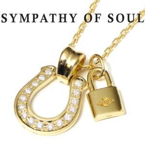 シンパシーオブソウル ネックレス ホースシュー K18 ゴールド ダイヤ SYMPATHY OF SOUL Horseshoe Large K18 Yellow Gold Diamond × Key K18YG × Chain 1.3mm|charger