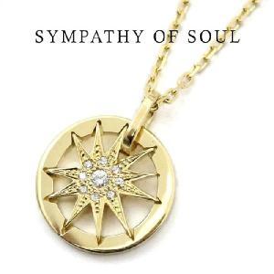 シンパシーオブソウル,SYMPATHY OF SOUL 通販, Sunshine Pendant - サンシャインペンダント  K18 Yellow Gold ダイヤモンド×1.3mmチェーンセットネックレス |charger