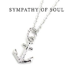 Safari8月号掲載,SYMPATHY OF SOUL 通販, Anchor Pendant (Silver・Cubic Zirconia),アンカーペンダント×Silverチェーンセット