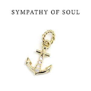 Safari8月号掲載,SYMPATHY OF SOUL 通販, Anchor Pendant - K18Yellow Gold w/Diamond アンカーペンダント K18イエローゴールド w/Diamond,通販,取扱い|charger