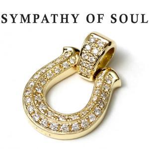 シンパシーオブソウル ネックレス ゴールド SYMPATHY OF SOUL Horseshoe XL Pendant Premium K18YG Diamond ホースシュー XL プレミアム K18 ゴールド ダイヤ|charger
