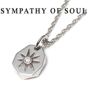 SYMPATHY OF SOUL シンパシーオブソウル Sun Plate Silver w/CZ × Chain 1 .6mm 太陽 サンプレート ネックレス  シルバー キュービックジルコニア|charger
