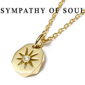 シンパシーオブソウル ネックレス ゴールド  K18 SYMPATHY OF SOUL Sun Plate Pendant K18YG Diamond × 1.3mm Chain 太陽 サンプレート ダイヤ|charger