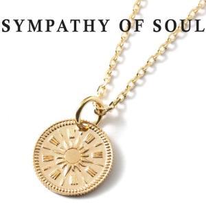 シンパシーオブソウル ネックレス SYMPATHY OF SOUL Hope Sun Coin Charm K10YG × Chain 1.3mm 太陽 ホープ サン コイン チャーム K10 ゴールド チェーンセット charger
