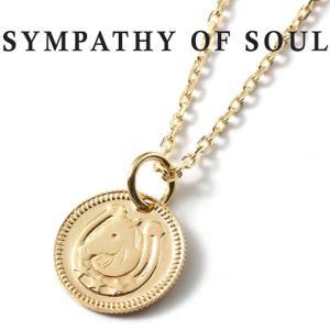 シンパシーオブソウル ネックレス SYMPATHY OF SOUL Ever Fortune Coin K10YG × Chain 1.3mm 馬蹄 エヴァー フォーチュン コイン K10 ゴールド チェーンセット charger