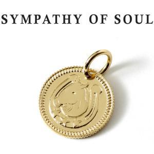 シンパシーオブソウル ネックレス ゴールド SYMPATHY OF SOUL Ever Fortune Coin Charm K18YG エヴァー フォーチュン コイン チャーム K18 イエローゴールド|charger