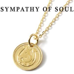 シンパシーオブソウル ネックレス SYMPATHY OF SOUL Ever Fortune Coin K18YG × Chain 1.3mm 馬蹄 エヴァー フォーチュン コイン K18 ゴールド チェーンセット|charger