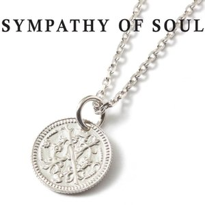 シンパシーオブソウル ネックレス シルバー SYMPATHY OF SOUL Bless Coin Charm Silver × Chain 1.6mm  無限 可能性  ブレス コイン チャーム  チェーンセット charger