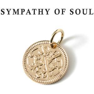 シンパシーオブソウル ネックレス ゴールド SYMPATHY OF SOUL Bless Coin Charm K10 Yellow Gold ブレス コイン チャーム K10 イエローゴールド charger