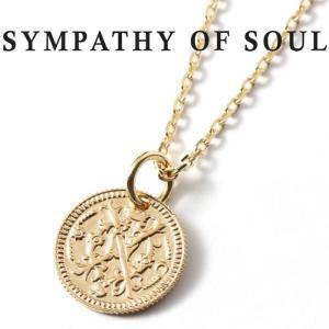 シンパシーオブソウル ネックレス SYMPATHY OF SOUL Bless Coin Charm K10YG × Chain 1.3mm 無限 ブレス コイン チャーム K10 ゴールド チェーンセット charger