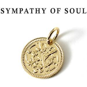 シンパシーオブソウル ネックレス ゴールド SYMPATHY OF SOUL Bless Coin Charm K18 Yellow Gold ブレス コイン チャーム K18 イエローゴールド|charger