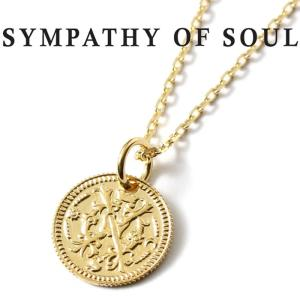 シンパシーオブソウル ネックレス SYMPATHY OF SOUL Bless Coin Charm K18YG × Chain 1.3mm 無限  ブレス コイン チャーム K18 ゴールド チェーンセット|charger